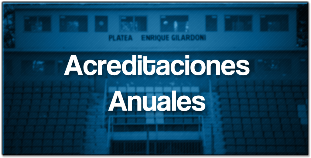 acreditaciones anuales con sombra